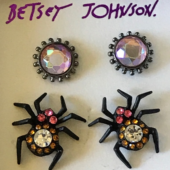 Purple and Silver Spider Gothic Drop Earrings